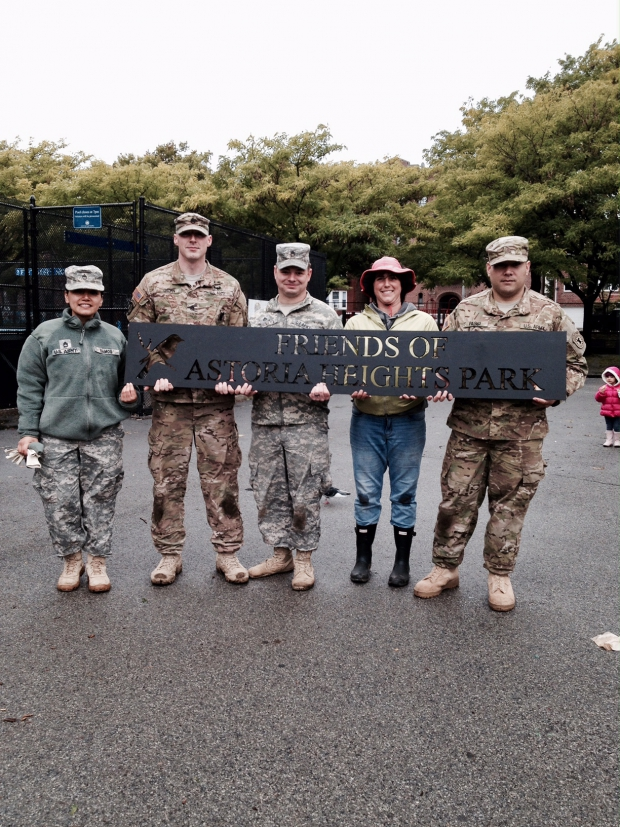 Lauren Biniaris with Army Reserves