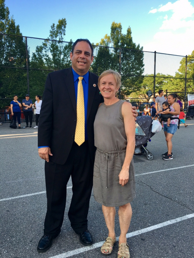 Councilman Costantinides and Lynn Kennedy